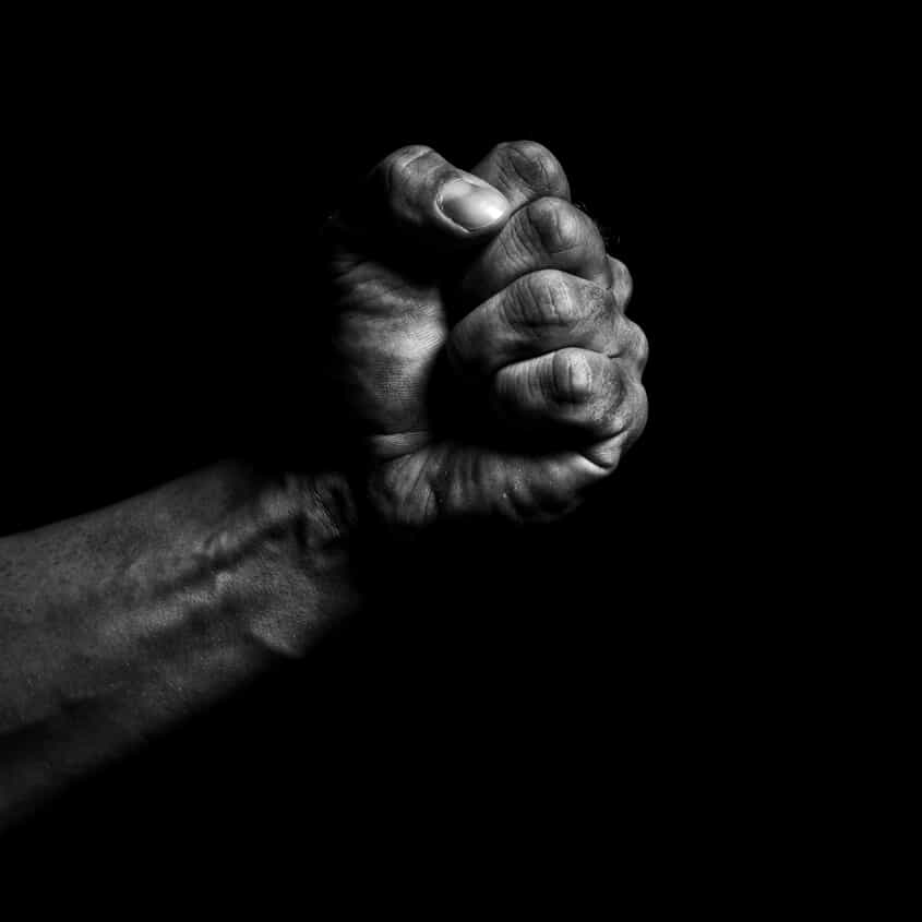 Fist with a Black Background